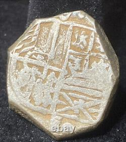 1601-1629 SPAIN SILVER COB COINPotosi Mint4 RealesPorto Bello HordeSHIPWRECK