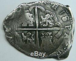 1601 Philip III 8 Real Cob Sevilla Spain Assayer B Spanish Colonial Silver
