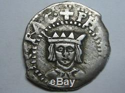 1610 Real Cob Philip III Dieciocheno Valencia Spanish Spain Colonial Silver