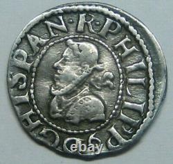 1612 Philip III 1/2 Real Cob 1/2 Croat Spanish Silver Barcelona Colonial Era