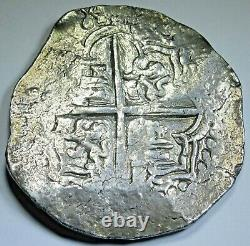 1613-1616 Bolivia Silver 8 Reales Antique 1600s Spanish Colonial Pirate Cob Coin