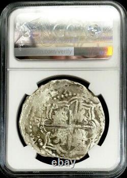 1613-1616 P Silver Bolivia 8 Reales Sao Jose Shipwreck Treasure Cob Ngc Genuine