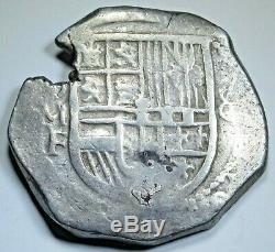 1613-16 OMF Spanish Mexico Silver 8 Reales 1600s Colonial Dollar Pirate Cob Coin