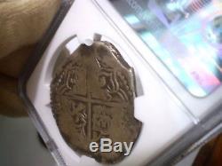 1613-17 Atocha Era Bolivia 8 Reales Q Silver 8r Dollar Cob Colonial Coin