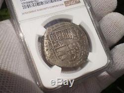 1615-19 Atocha Era Bolivia 8 Reales Silver 8r Dollar Cob Colonial Coin