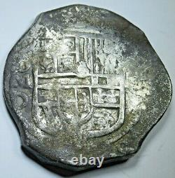 1618-1621 Mexico Silver 8 Reales 1600's Spanish Colonial Dollar Pirate Cob Coin