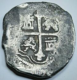 1618-1621 Spanish Mexico Silver 8 Reales Antique 1600's Colonial Pirate Cob Coin
