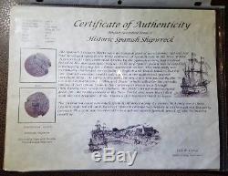 1618-1647 8 Reales, Potosi Silver Shipwreck Cob Coin, Grade 1, PNCS, Tapia, withCOA