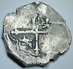 1618-22 Mexico Silver 4 Reales 1600s Spanish Colonial 1/2 Dollar Pirate Cob Coin