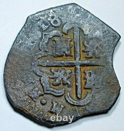 1618 Shipwreck Silver 2 Reales 1600's Spanish Colonial Pirate Treasure Cob Coin