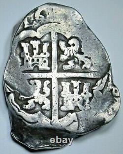 1621-1665 Spanish Seville Silver 8 Reales 1600's Colonial Dollar Pirate Cob Coin