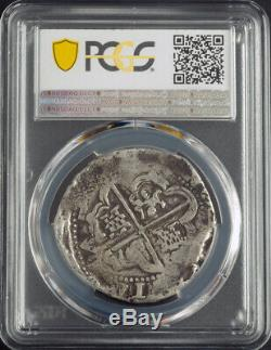 1621, Bolivia, Philip III. Spanish Colonial Silver 8 Reales Cob Coin. PCGS VF20