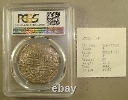 1622 Atocha Recovered Philip III Potosi Mint Silver Cob 8 Reales PCGS Genuine