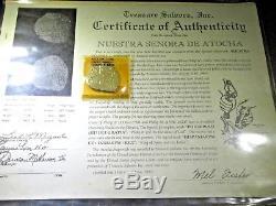 1622 Atocha Shipwreck 8 Reales Spanish Silver Dollar Cob Grade 3 COA Mel Fisher