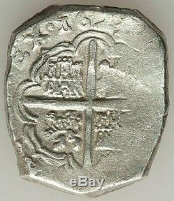 1623 SPAIN FELIPE IV SILVER COB 4 REALES 29x25mm. 13.73gm