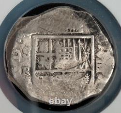 1625-1665, Spain, Philip IV. Large Silver 8 Reales Cob Coin. Seville! NGC VF-30