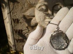 1628 D Mexico 8 Reales Lucayan Shipwreck 8r Cob Dollars Colonial Coin Pedant