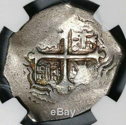 1636-65 NGC VF 30 Mexico Cob 4 Reales Philip IV Silver Pirate Coin (20070301D)