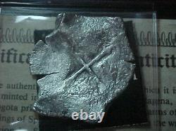 1640 Concepcion Shipwreck Choice Partial Date Silver 8 Reales Cob WithCachet & COA