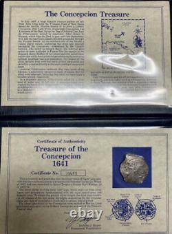 1640 Mexico 8 Reales Silver Coin KM 45 Concepcion Shipwreck Cob Mo P Sea Salvage