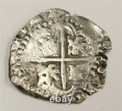1640 Spanish Cob 4 Reales silver coin 16.48 grams
