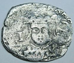 1640 Spanish Valencia Silver 1 Reales Piece of 8 Real Colonial Cob Pirate Coin