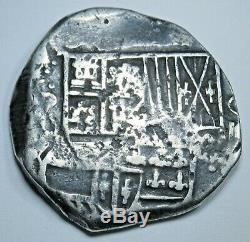 1645 Spanish Bolivia Silver 4 Reales Piece of 8 Real Colonial Pirate Cob Coin