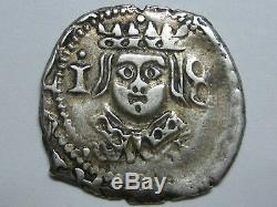 1650 Real Cob Philip IV Dieciocheno Valencia Spanish Spain Colonial Silver