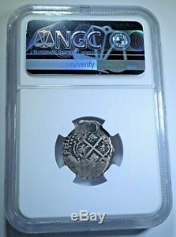 1652 Spanish Bolivia Silver 1 Reales NGC Antique 1600's Colonial Pirate Cob Coin