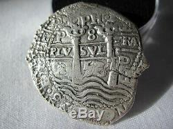 1653 Spanish Colonial Silver 8 Reales Cob Coin