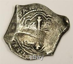 1655 P Mexico 8 Reales silver Cob 27.2 grams full date nice example a/EF