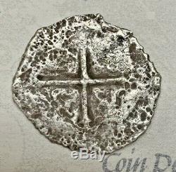 1655 Spanish Cob 4 REALES Silver Coin NUESTRA SEÑORA DE LAS MARAVILLAS Shipwreck