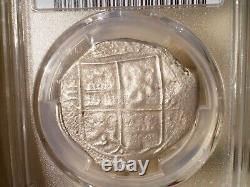 1662 Colombia 8 Reales 8r Dollars Pesos Shipwreck Colonial Silver Cob Coin