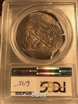 1662 Mo P 8 Reales Cob Mexico PCGS VF20! 34877868