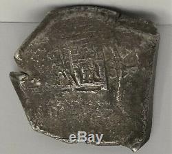 1665-1700 Spain 8 Reales Cob Mexico Carlos II F+ Silver Coin