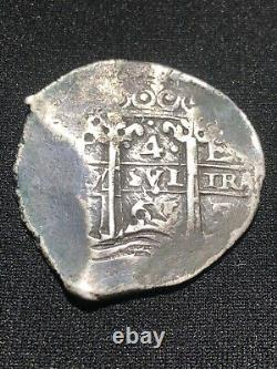 1665 Mexico Spanish Colony Silver 4 Reales Petosi Mint Cob