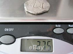 1667 Spanish Colonial Silver 8 Reales Cob Coin