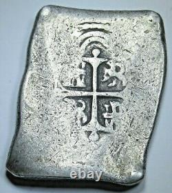 1668-1701 Mexico Silver 8 Reales Antique 1600's Spanish Colonial Pirate Cob Coin