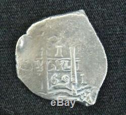 1669 1 Real Silver Cob Coin From The Consolacion Shipwreck Potosi Mint Treasure