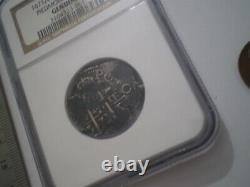 1671 Bolivia Piedmont Shipwreck 2 Reales Spanish Cob 2r Silver Coin