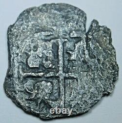 1674 Shipwreck Spanish Bolivia Silver 1 Reales 1600's Pirate Treasure Cob Coin