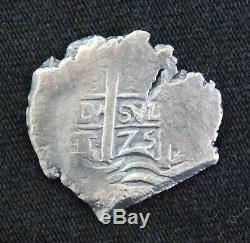 1675 1 Real Silver Cob Coin From The Consolacion Shipwreck Potosi Mint Treasure