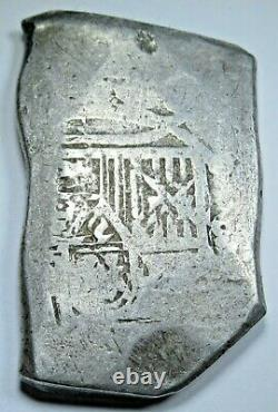1678-1701 Mexico Silver 8 Reales Antique 1600's Spanish Colonial Pirate Cob Coin