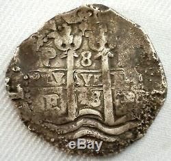 1678 PE Bolivia Silver 8 Reales Coin Spanish Colonial Cob Coin You Grade