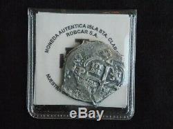 1679 4 Reales Silver Cob Coin From Consolacion Shipwreck Potosi Mint Treasure