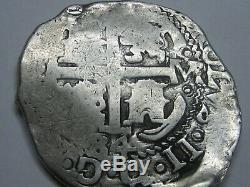 1684 Potosi 8 Real Cob Charles II Bolivia Spanish Dollar Colonial Era Silver Cob