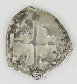 1685 Silver Cob 1/2 Reales Mexico Carlos II withCOA Spanish Colonial Coin