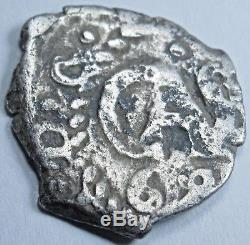 1688 Spanish Silver 1/2 Reales Cob Piece of Eight Real Colonial Treasure Coin