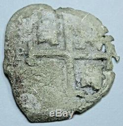 1688 Spanish Silver Shipwreck 1 Reales Piece of 8 Old Pirate Treasure Cob Coin