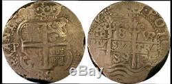 1689-p Vr Silver 8 Reales Potosi Bolivia Vf 30 Pcgs Pirate Colonial Cob Genuine
